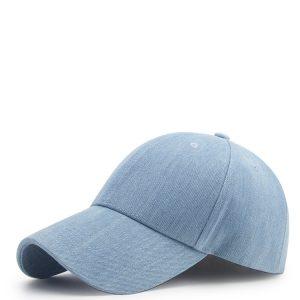 Light Denim Satin-Lined Baseball Hat