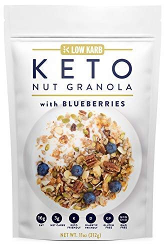 Keto nut granola healthy breakfast cereal