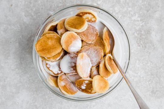 Keto pancake cereal