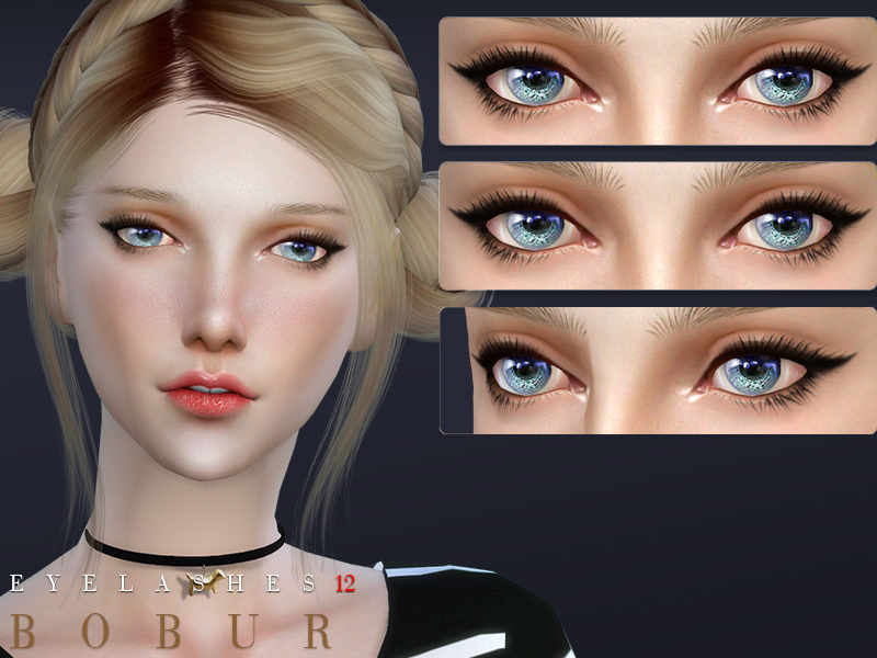 Bobur Eyelashes-12 4 eyelashes cc