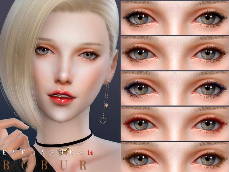 Bobur Eyelashes-20 sims 4 eyelashes cc