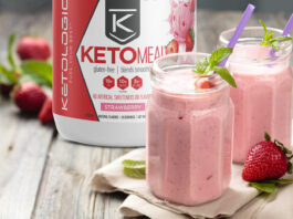 Strawberry Keto Milkshake with No Calories