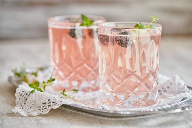 Blackberry-Thyme Champagne Cocktail