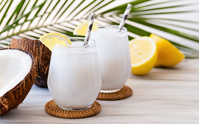 Gin and Coconut Water Cocktail