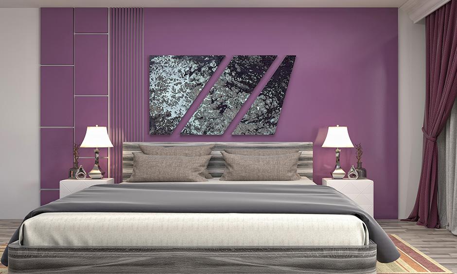 Grey Colour and Purple Colour