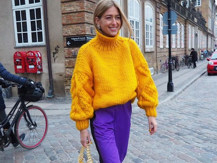 Mustard colors and Purple Colour