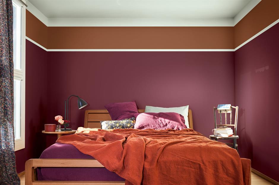 Purple Colour and brown Colour