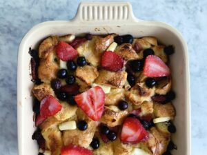 Double-Berry French Toast Casserole