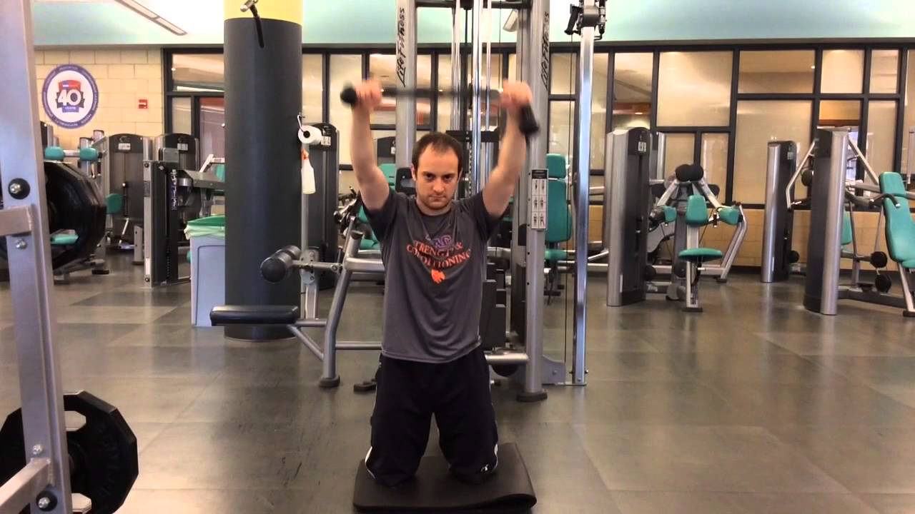 Overhead kneeling cable hold