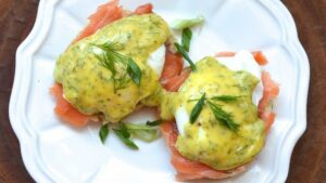 Smoked-Salmon Benedict with Citrus-Dill Hollandaise